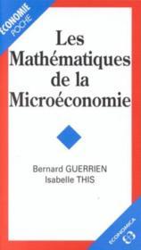 Les mathematiques de la microeconomie - Couverture - Format classique