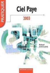 Ciel paye 2003 ; livre de l'élève - Couverture - Format classique