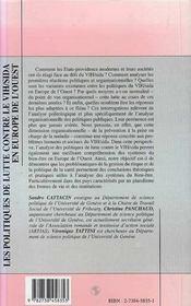 Les Politiques De Lutte Contre Le Vih/Sida En Europe De L'Ouest ; Du Risque A La Normalisation - 4ème de couverture - Format classique
