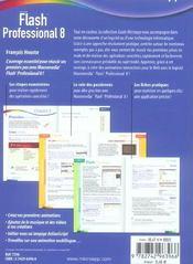 Flash Professional 8. Macromedia - 4ème de couverture - Format classique