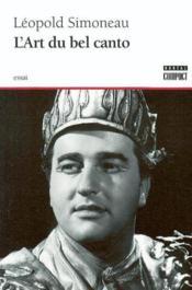 L'art du bel canto - Couverture - Format classique