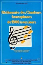 Dict. des chanteurs francophones - Couverture - Format classique