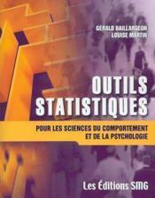Outils Statistiques Pour Les Sciences Du Comportement Et De La Psychologie Avec Cd-Rom (Fichiers Exc - Couverture - Format classique
