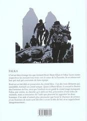 Falka T.3 ; Le Grand Secret - 4ème de couverture - Format classique