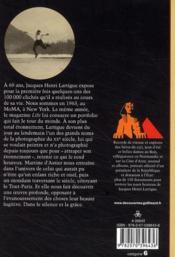 Jacques-Henri Lartigue ; une vie sans ombre - 4ème de couverture - Format classique