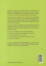 La démarche lean - 4ème de couverture - Format classique
