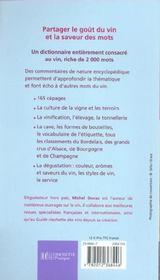2000 mots du vin - 4ème de couverture - Format classique