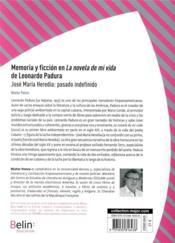 Memoria y ficción en La novela de mi vida de Leonardo Padura ; José María Heredia : pasado indefinido - 4ème de couverture - Format classique