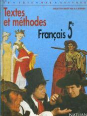 Francais 5e Textes Et Methodes Eleve - Couverture - Format classique