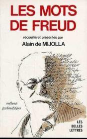 Mots De Freud - Couverture - Format classique