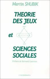Theorie Des Jeux Et Sciences Sociales - Couverture - Format classique