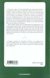 Droit Civil T.7 ; Les Suretes Personnelles - 4ème de couverture - Format classique