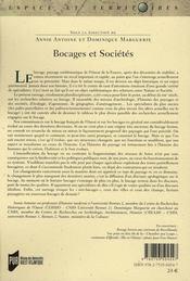 Bocages & sociétés - 4ème de couverture - Format classique