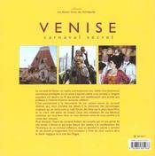 Venise ; carnaval secret - 4ème de couverture - Format classique