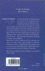 Corps De Femme - 4ème de couverture - Format classique