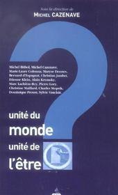 Unite Du Monde, Unite De L'Etre - Intérieur - Format classique