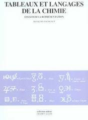 Tableaux Et Langages De La Chimie - Intérieur - Format classique