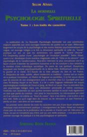 La nouvelle psychologie spirituelle t.1 ; les traits du caractère (4e édition) - 4ème de couverture - Format classique