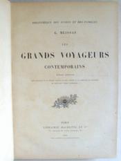 Les grands voyageurs contemporains. - Couverture - Format classique