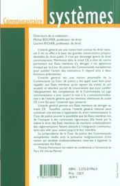 L'interet general et le juge communautaire - 4ème de couverture - Format classique