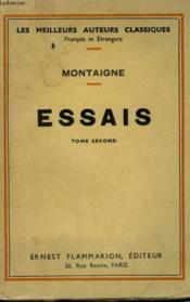 Essais. Tome 2. - Couverture - Format classique