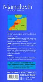 Guides Bleus Evasion ; Marrakech Et Le Sud Marocain - 4ème de couverture - Format classique