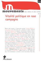 Revue Le Mouvement Social N.84 ; Vitalité Politique En Rase Campagne - Couverture - Format classique