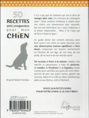 50 recettes anti croquettes pour mon chien - 4ème de couverture - Format classique