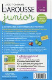 Le dictionnaire Larousse junior bimedia - 4ème de couverture - Format classique