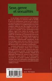 Sexe et genre ; une philosophie à soi - 4ème de couverture - Format classique