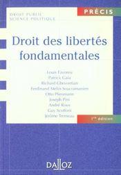 Droit Des Libertes Fondamentales - Intérieur - Format classique