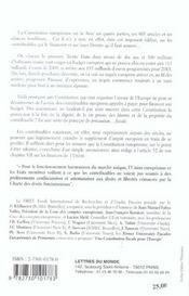 Une constitution fiscale pour l'Europe - 4ème de couverture - Format classique