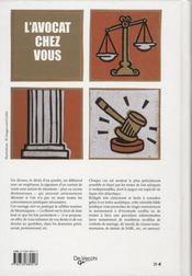L'avocat chez vous (26e édition) - 4ème de couverture - Format classique