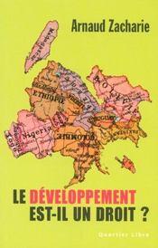 Le développement est-il un droit ? - Intérieur - Format classique