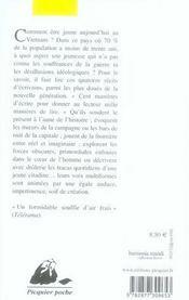 Au rez-de-chaussée du paradis ; récits vietnamiens 1991-2003 - 4ème de couverture - Format classique