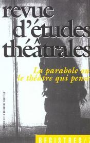Revue Registres N.7 ; La Parabole Ou Le Théâtre Qui Pense - Intérieur - Format classique