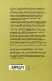 La personne humaine en question ; pour une anthropologie de l'interiorité - 4ème de couverture - Format classique