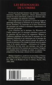 Les résonances de l'ombre ; musiques et identités : de Wagner au jazz - 4ème de couverture - Format classique