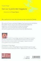 Dan Sur La Piste Des Trappeurs - 4ème de couverture - Format classique