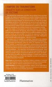 L'empire du traumatisme ; enquête sur la condition de victime - 4ème de couverture - Format classique