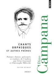 Chants orphiques et autres poèmes - Couverture - Format classique