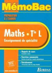 Mathématiques Terminale L; enseignement de specialite ; preparation a l'examen - Intérieur - Format classique