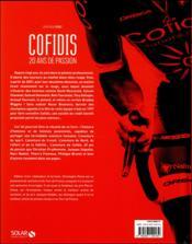 Cofidis, 20 ans de passion ; 1996-2016 - 4ème de couverture - Format classique