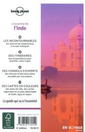 L'Inde (4e édition) - 4ème de couverture - Format classique