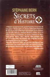 Secrets d'Histoire t.9 - 4ème de couverture - Format classique