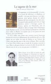 La Sagesse De La Mer - 4ème de couverture - Format classique
