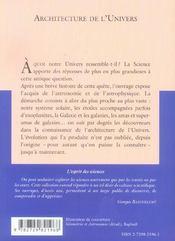 Architecture de l'univers no30 - 4ème de couverture - Format classique