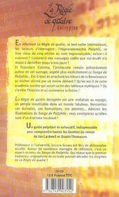 La regle de quatre decryptee du professeur joscelyn godwin - 4ème de couverture - Format classique
