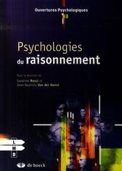 Psychologies du raisonnement - Intérieur - Format classique