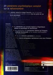Psychologies du raisonnement - 4ème de couverture - Format classique